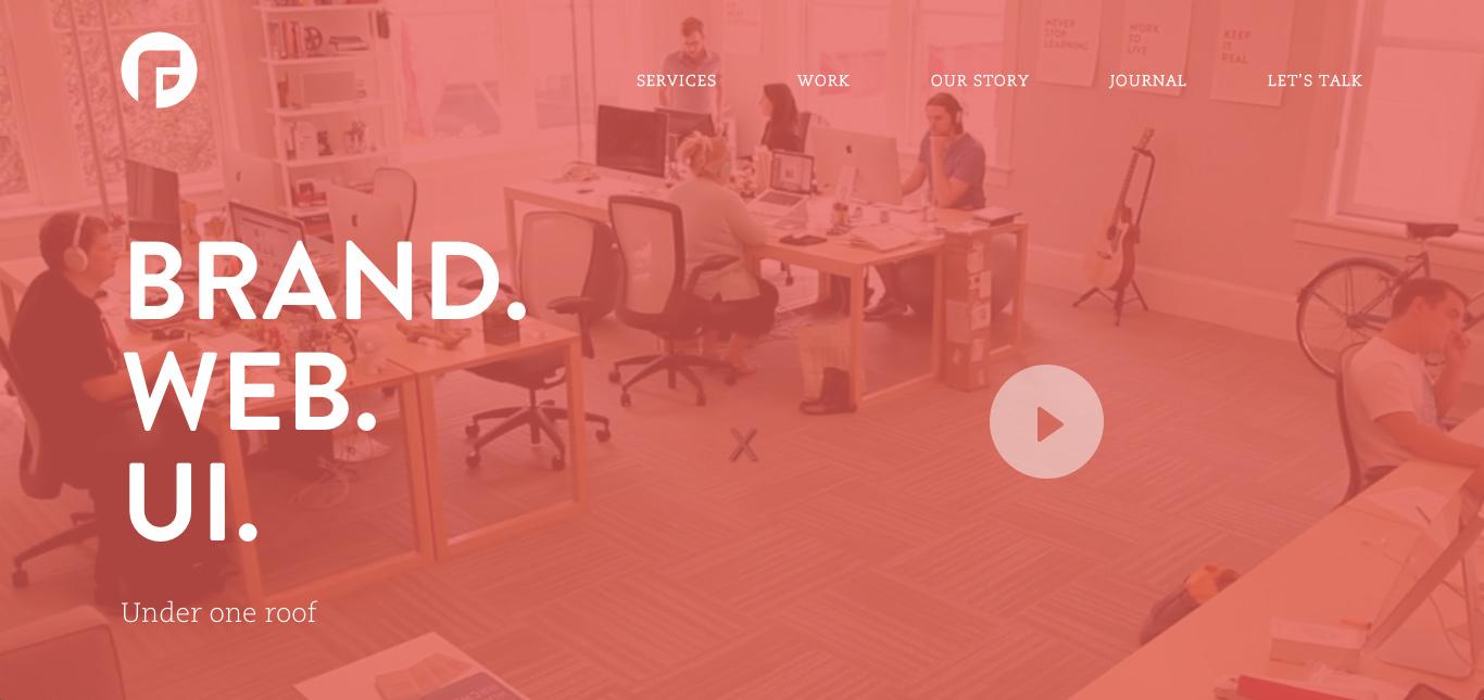 Flat Webdesign Singlepage