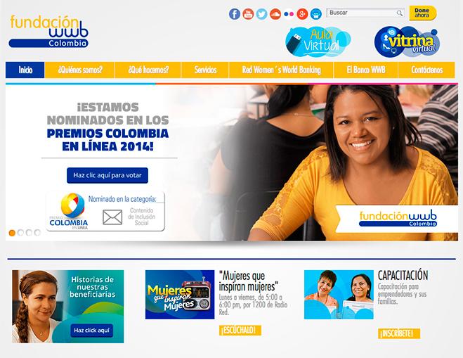 Portal Fundación WWB Colombia