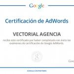 En Vectorial, ¡ya estamos certificados en Google Adwords!